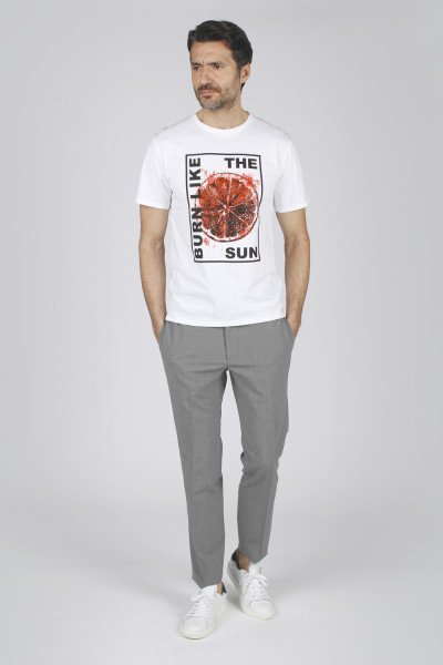 T-shirt stampa rosso